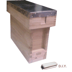 National Bee Hive, DIY, Complete 3 Frame 1/3 Hive, Extra Deep Box