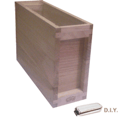 National Bee Hive, DIY, 3 Frame 1/3 Hive, Extra Deep Box, Jumbo 14x12