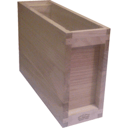 National Bee Hive, Assembled, 3 Frame 1/3 Hive, Extra Deep Box, 14x12
