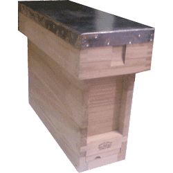 National Bee Hive, Assembled, Complete 3 Frame 1/3 Hive, Extra Deep Box