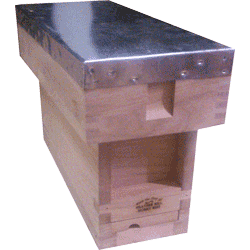 National Bee Hive, Assembled, Complete 3 Frame 1/3 Hive, Standard Deep