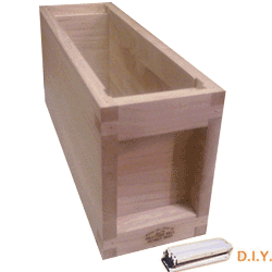 National Bee Hive, DIY, 3 Frame 1/3 Hive, Standard Deep Box