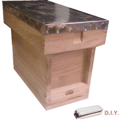 National Bee Hive, DIY, Complete 5 Frame 1/2 Hive, Extra Deep Box