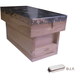 National Bee Hive, DIY, Complete 5 Frame 1/2 Hive, Standard Deep Box