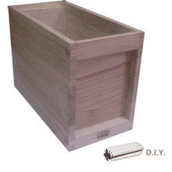 National Bee Hive, DIY, 5 Frame 1/2 Hive, Extra Deep Box, Jumbo 14x12