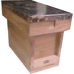 National Bee Hive, Assembled, Complete 5 Frame 1/2 Hive, Extra Deep Box