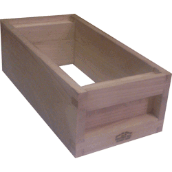 National Bee Hive, Assembled, 5 Frame 1/2 Hive, Standard Shallow Box
