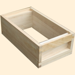 National Bee Hive, Assembled, 6 Frame Hive, Standard Shallow Box