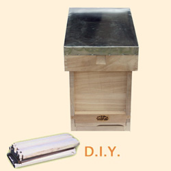 National Bee Hive, DIY, Complete 6 Frame Hive, Extra Deep Box