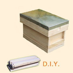 National Bee Hive, DIY, Complete 6 Frame Hive, Standard Deep Box
