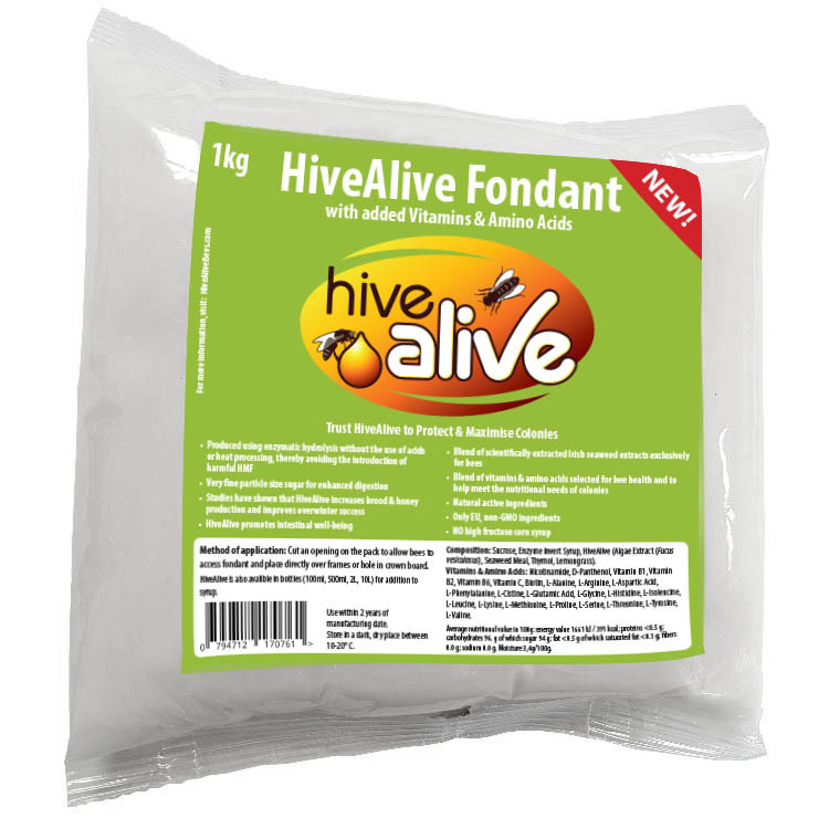 HiveAlive Fondant, Bee Feed, 1kg