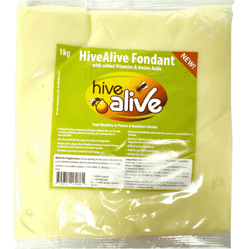 HiveAlive Fondant, Bee Feed, 1kg, x10
