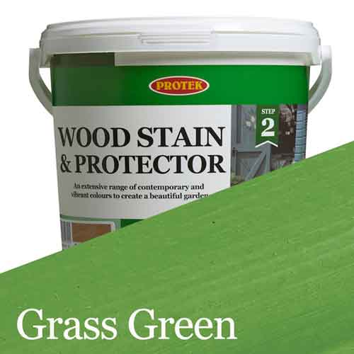 Bee Hive Wood Stain & Protector, Grass Green, 1lt