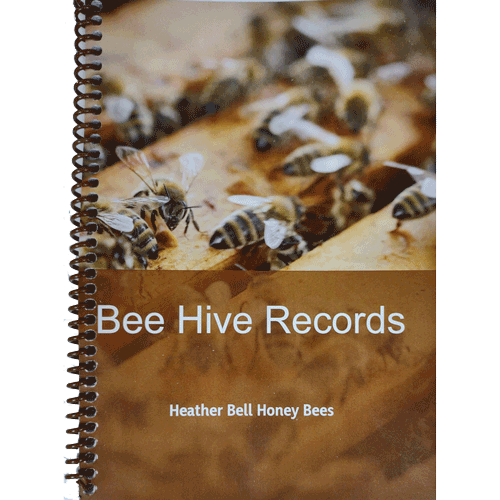 Bee Hive Records Book, Spiral Bound Softback