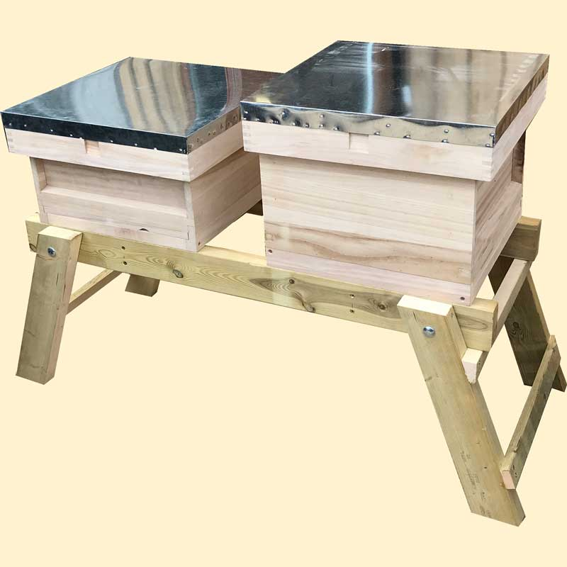 Bee Hive Stand, Assembled, Long Folding