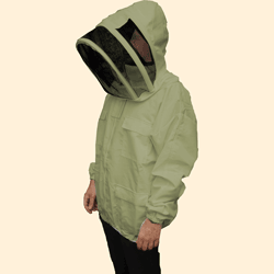 Beekeepers Zip Front Jacket, Olive Green, 2XL