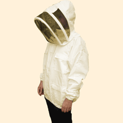 Beekeepers Zip Front Jacket, Unbleached