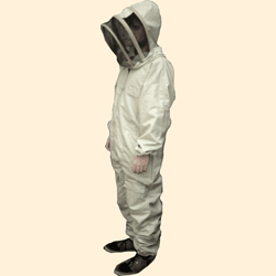 Beekeepers Suit, Fencing Hood Veil, Unbleached, 2XL