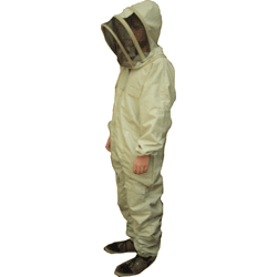 Beekeepers Suit, Fencing Hood Veil, Olive Green, 2XL