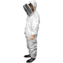 Beekeepers Suit, Fencing Hood Veil, White, 2XL