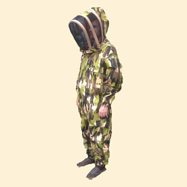 Beekeepers Suit, Fencing Hood Veil, Camouflage, Medium