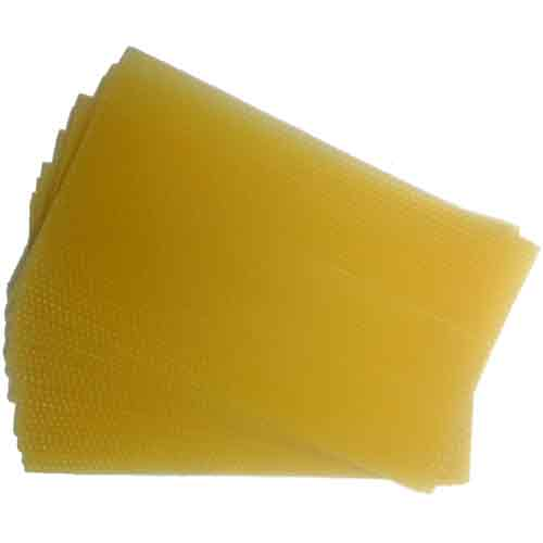 National Bee Hive, Beeswax Foundation, Standard Deep Unwired, x10