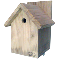Garden Bird Nest Box, Gabled Roof, Marsh, Coal & Blue Tits