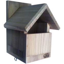 Garden Bird Nest Box, Gabled Roof, Flycatchers