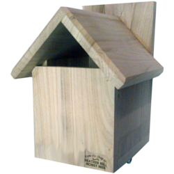 Garden Bird Nest Box, Gabled Roof, Robins, Pied Wagtails