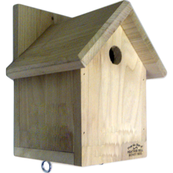 Garden Bird Nest Box, Gabled Roof, Sparrows, Great Tits