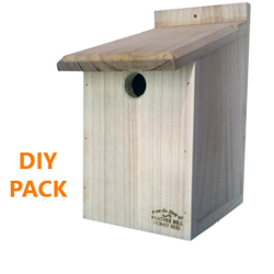 Garden Bird Nest Box, DIY, Sparrows, Great Tits