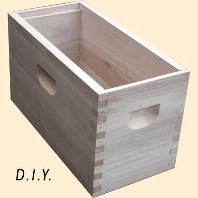 Commercial Bee Hive, DIY, 1/2 Hive, Deep Box