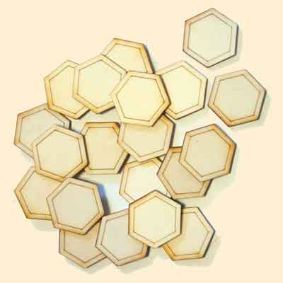 Bee Hive Sign Decoration, Hexagons x20