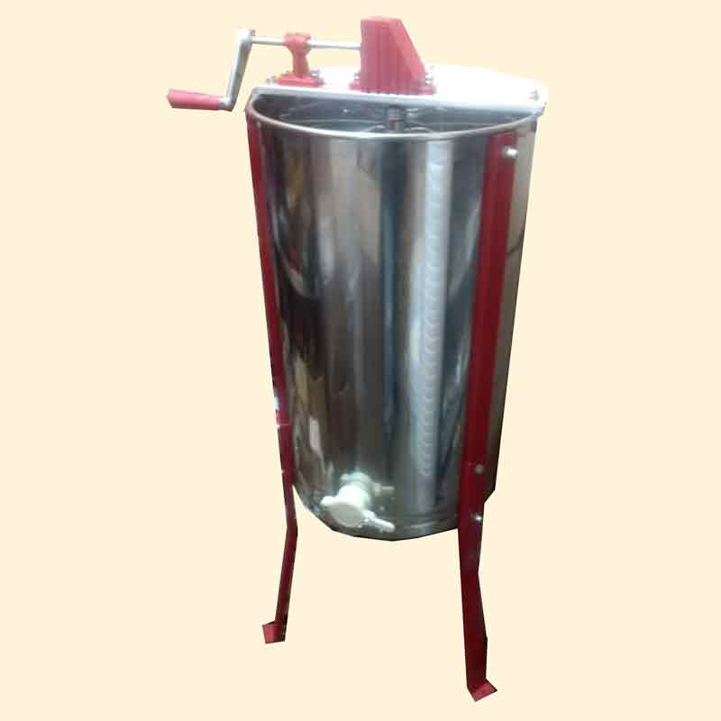 Honey Extractor, 3 Frame Manual Tangential, Stainless