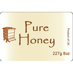 Honey Labels, x50, Large, D20