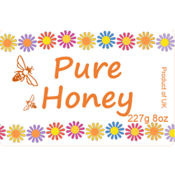 Honey Labels, x50, Large, D40