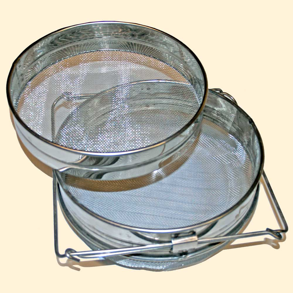 Honey Strainer, Double Stainless Steel Sieve