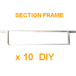 National DIY, Frames, 4 Section Frame, Extra Shallow, x 10