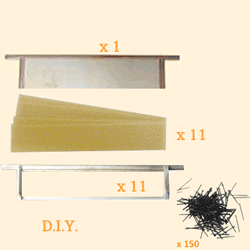 National Bee Hive, DIY, Hive Contents Kit, Extra Shallow