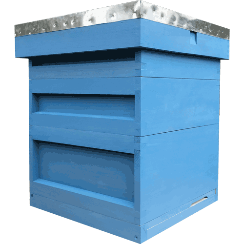 National Bee Hive, Assembled, Complete Hive, Choose Colour
