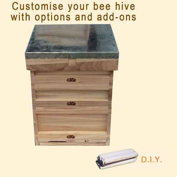 National Bee Hive, DIY, Complete Hive with Options