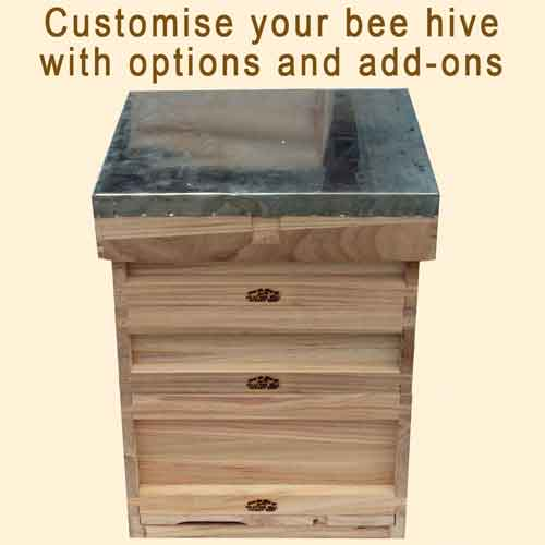 National Bee Hive, Assembled, Complete Hive with Options