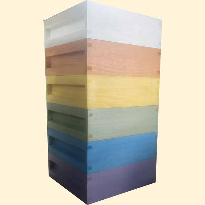 National Bee Hive, Assembled, Standard Shallow Box, Choose Colour