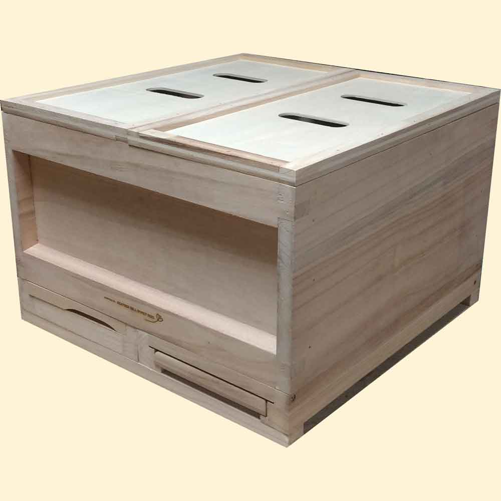 National Bee Hive, Assembled, Twin Nucleus Bee Hive, Standard Deep
