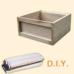 National Bee Hive, DIY, Standard Deep Box, x10