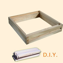 National DIY, Extra Shallow Box, Heather Super