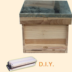 National Bee Hive, DIY, Complete Hive, Extra Deep Box, Jumbo 14x12