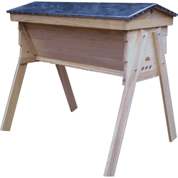 Cornish Top Bar Bee Hive, Assembled, Complete