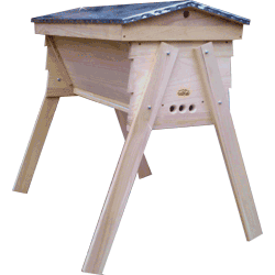 Cornish Top Bar Hive, Bolt on Legs