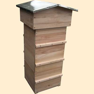 Warré Top Bar Hive, Assembled, Complete